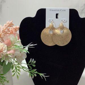NWT- Charter Club Gold- Tone Earrings